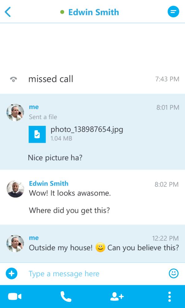 Чат Skype для BlackBerry