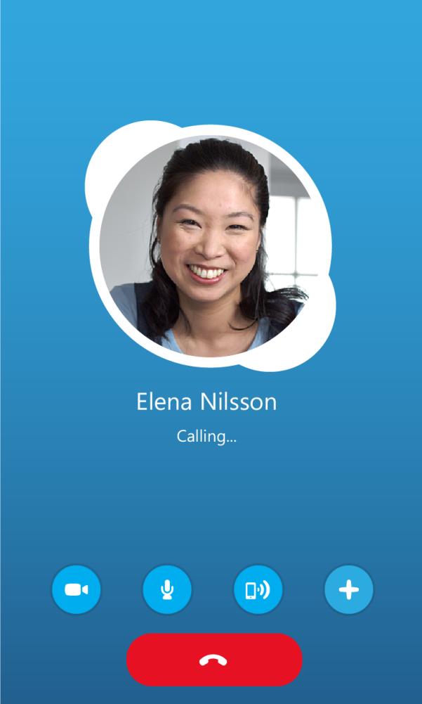 Входящий звонок в Skype для BlackBerry