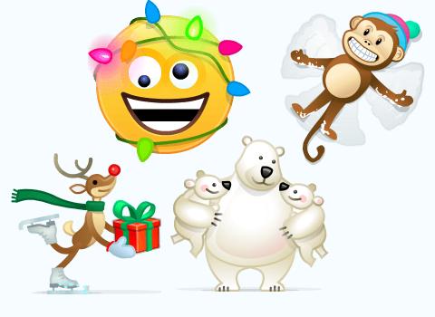 В Скайпе появились 4 дополнительных новогодних смайликов