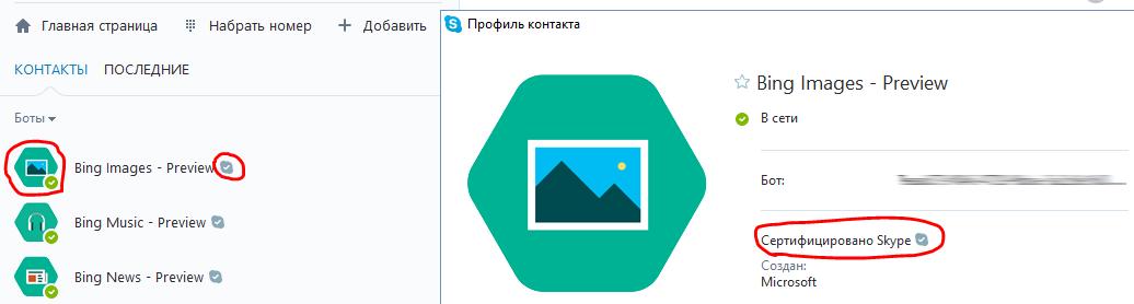 Сертифицированный бот для Skype